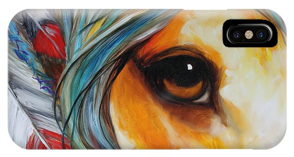 Spirit Eye Indian War Horse IPhone Case