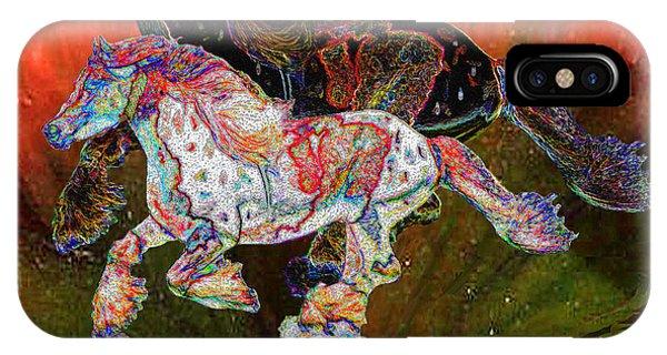 Spirit Horse II Leopard Gypsy Vanner IPhone Case