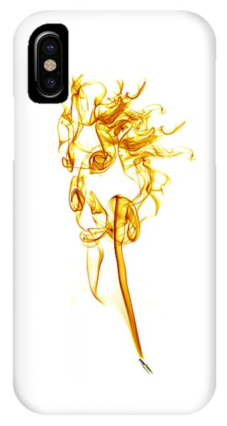 IPhone Case featuring the photograph Ghostly Smoke - Orange by Nick Bywater
