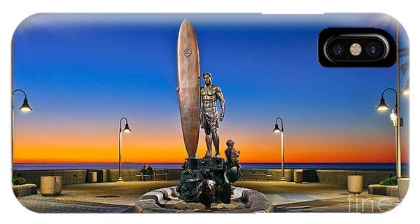 Spirit Of Imperial Beach Surfer Sculpture IPhone Case