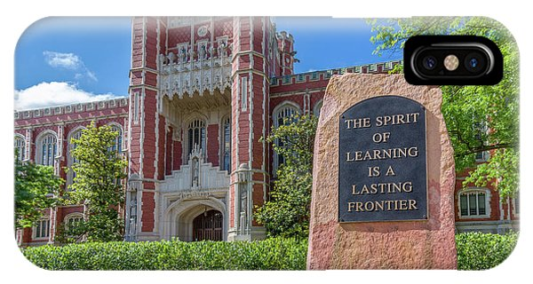 Oklahoma University iPhone Case - Spirit Of Learning Statue At The University Of Oklahoma  by Ken Wolter