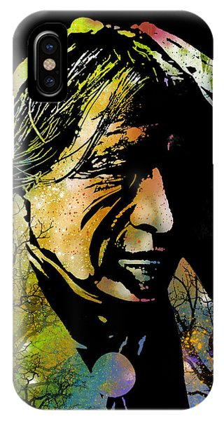 Native American Spirit Portrait iPhone Case - Spirit Of The Land by Paul Sachtleben