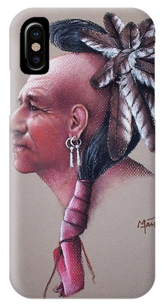 Native American Spirit Portrait iPhone Case - Spirit Of The Owl by Mahto Hogue