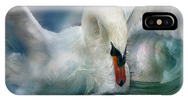 Swan iPhone X Case - Spirit Of The Swan by Carol Cavalaris