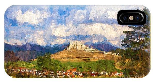 Castle Above The Village IPhone Case