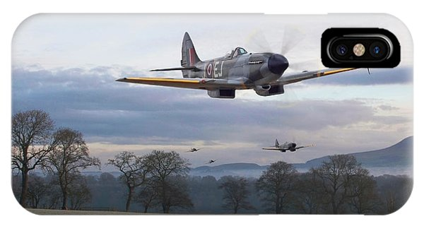 Skyscape iPhone Case - Spitfire - Interdictor Mission by Pat Speirs