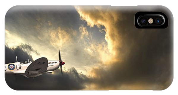 Airplane iPhone Case - Spitfire by Meirion Matthias