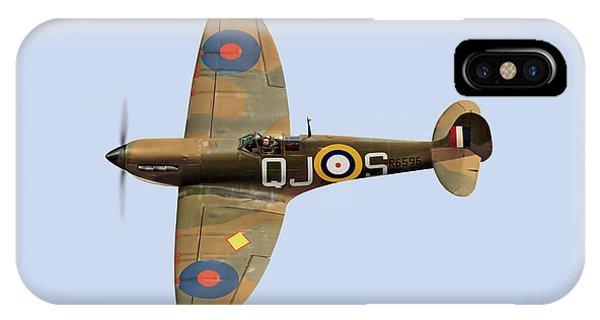 Spitfire Mk 1 R6596 Qj-s IPhone Case