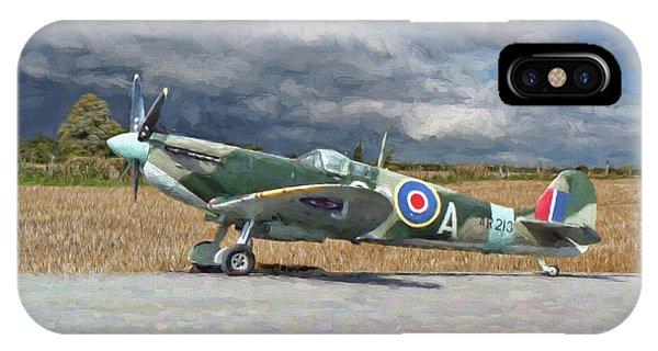 Spitfire Under Storm Clouds IPhone Case