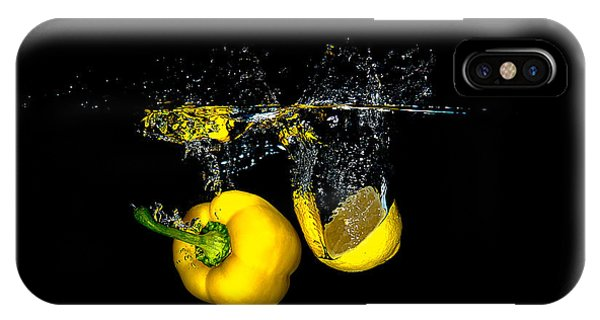Splash Of  Pepper And Lemon IPhone Case