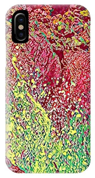 Splash Of Red - Heart Of Pele IPhone Case