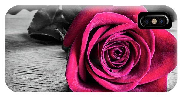 Splash Of Red Rose IPhone Case