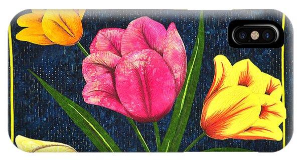 Splash Of Tulips IPhone Case
