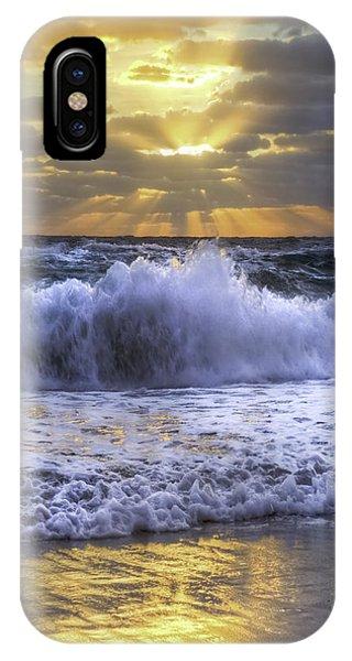 Boynton iPhone Case - Splash Sunrise IIi by Debra and Dave Vanderlaan