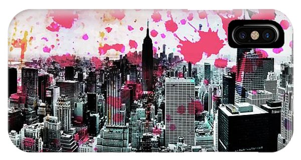 Buildings iPhone Case - Splatter Pop by Az Jackson