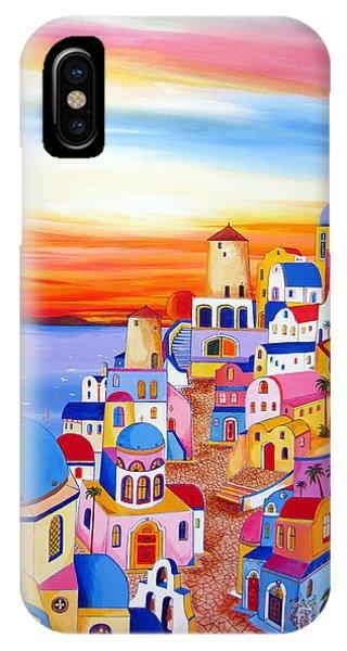 Splendid Santorini Sunset My Way IPhone Case