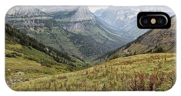 Splendor From Highline Trail - Glacier IPhone Case