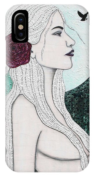 IPhone Case featuring the mixed media Splendour by Natalie Briney