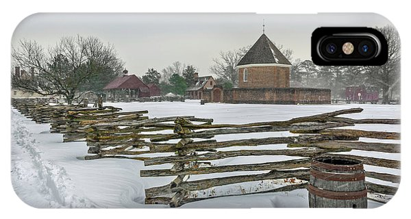 Split Rail Fence In Front Of Colonial Williamsburg Magazine IPhone Case