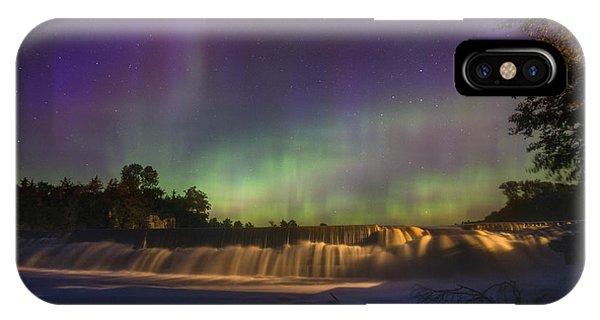 Split Rock iPhone Case - Split Rock Aurora by Aaron J Groen