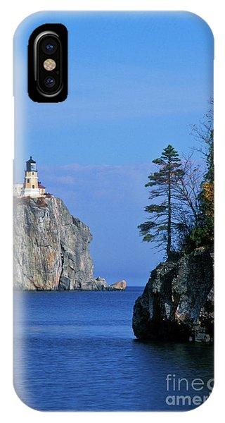 Split Rock iPhone Case - Split Rock Lighthouse - Fs000120 by Daniel Dempster