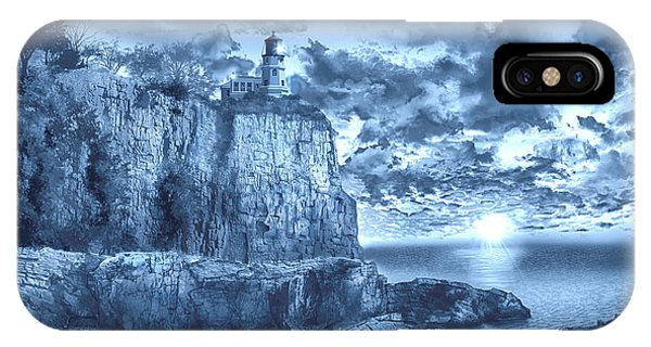 Lake Superior iPhone Case - Split Rock Lighthouse Blue by Bekim M