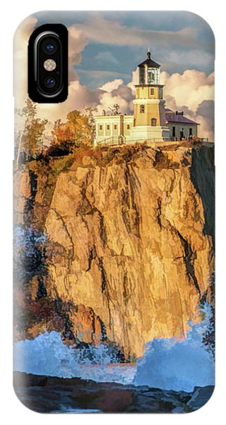 IPhone Case featuring the painting Split Rock Lighthouse by Christopher Arndt