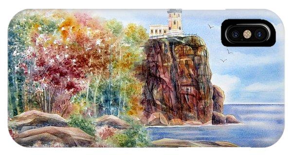 Split Rock iPhone Case - Split Rock Lighthouse by Deborah Ronglien
