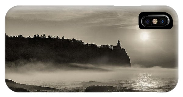 Split Rock Lighthouse Emerging Fog IPhone Case