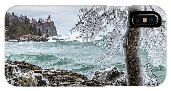 Split Rock iPhone Case - Split Rock Lighthouse by Mary Amerman