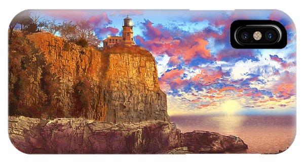 Split Rock iPhone Case - Split Rock Lighthouse by Bekim M