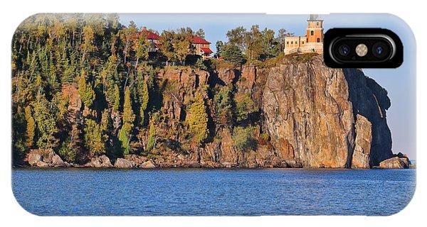 Split Rock iPhone Case - Split Rock Lighthouse Panorama 9323 9324 by Jack Schultz