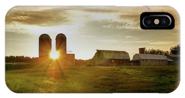 Silos iPhone Case - Split Silo Sunset by Benanne Stiens