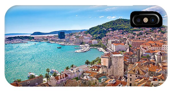 Split Waterfront And Marjan Hill View IPhone Case