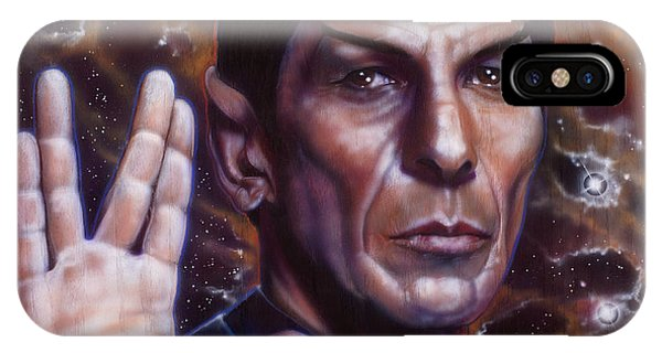 Airbrush iPhone Case - Spock by Timothy Scoggins