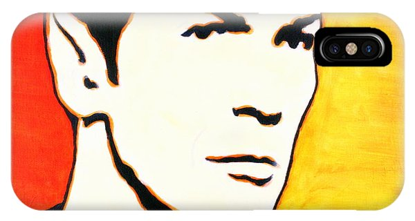 IPhone Case featuring the painting Spock Vulcan Star Trek Pop Art by Bob Baker
