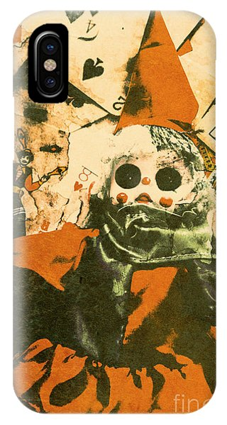 Sinister iPhone Case - Spooky Carnival Clown Doll by Jorgo Photography - Wall Art Gallery