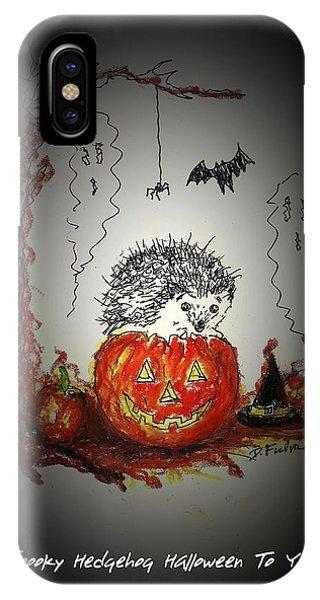 Spooky Hedgehog Halloween IPhone Case