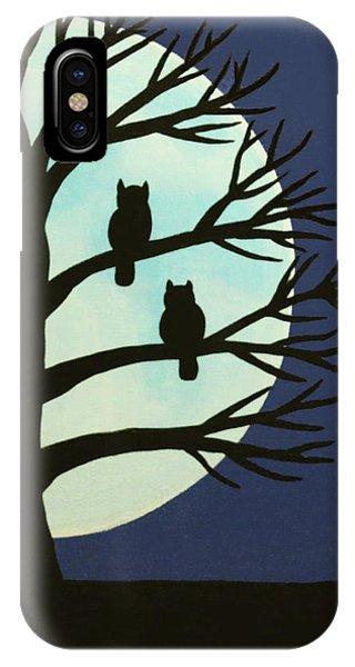 Spooky Owl Tree IPhone Case