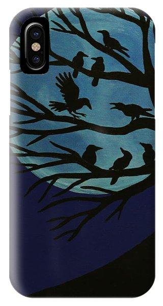 Spooky Raven Tree IPhone Case