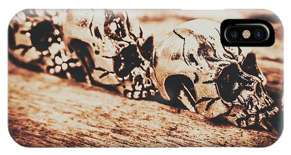 Ceremony iPhone Case - Spooky Skeleton Craniums  by Jorgo Photography - Wall Art Gallery