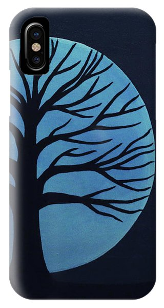 Spooky Tree Blue IPhone Case