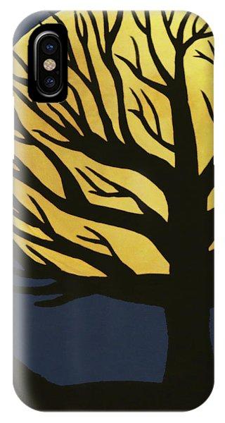 Spooky Tree Yellow IPhone Case