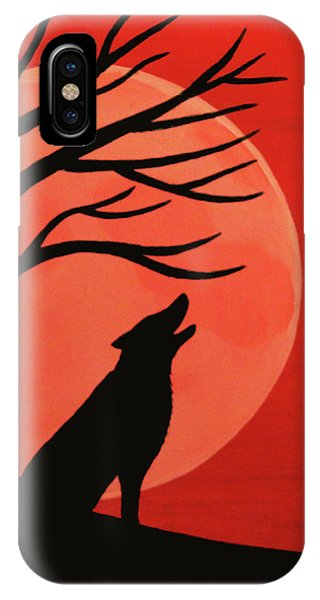 Spooky Wolf Tree IPhone Case