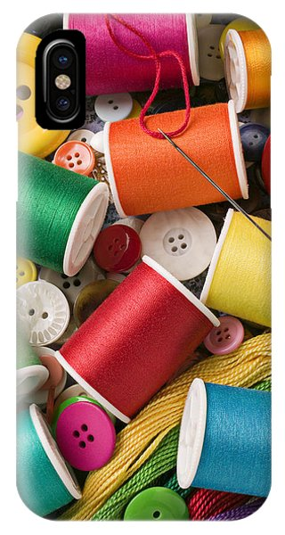 Spools Of Thread With Buttons IPhone Case