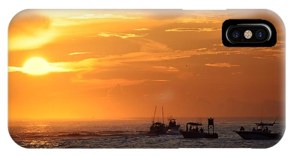 IPhone Case featuring the photograph Sportfishermen Head Offshore by Bradford Martin