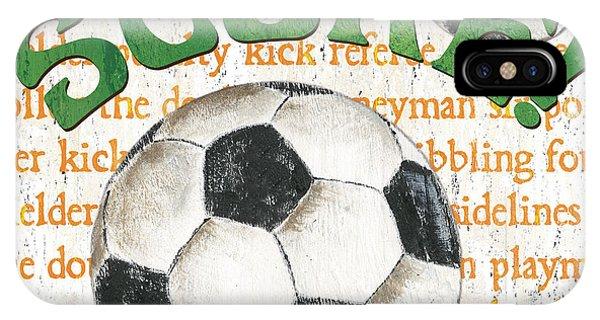 Day iPhone Case - Sports Fan Soccer by Debbie DeWitt