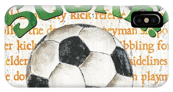 Soccer iPhone Case - Sports Fan Soccer by Debbie DeWitt