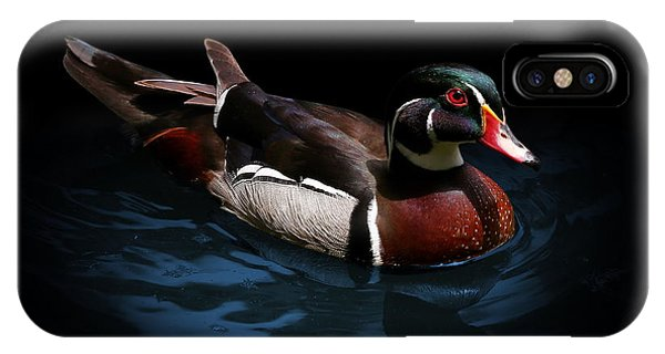 Spotlight On A Wood Duck IPhone Case