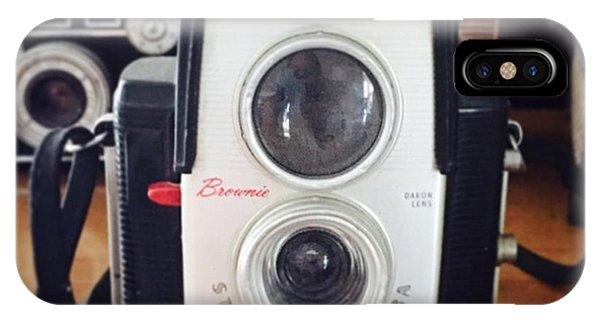 Famous Artist iPhone Case - Brownie Starflex Camera by Nancy Ingersoll